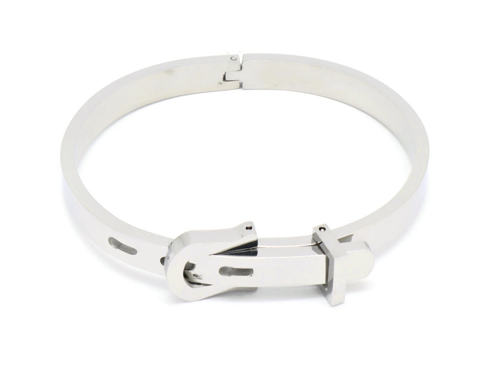 Stainless Steel  Belt Buckle  Bracelets Rhodium plated