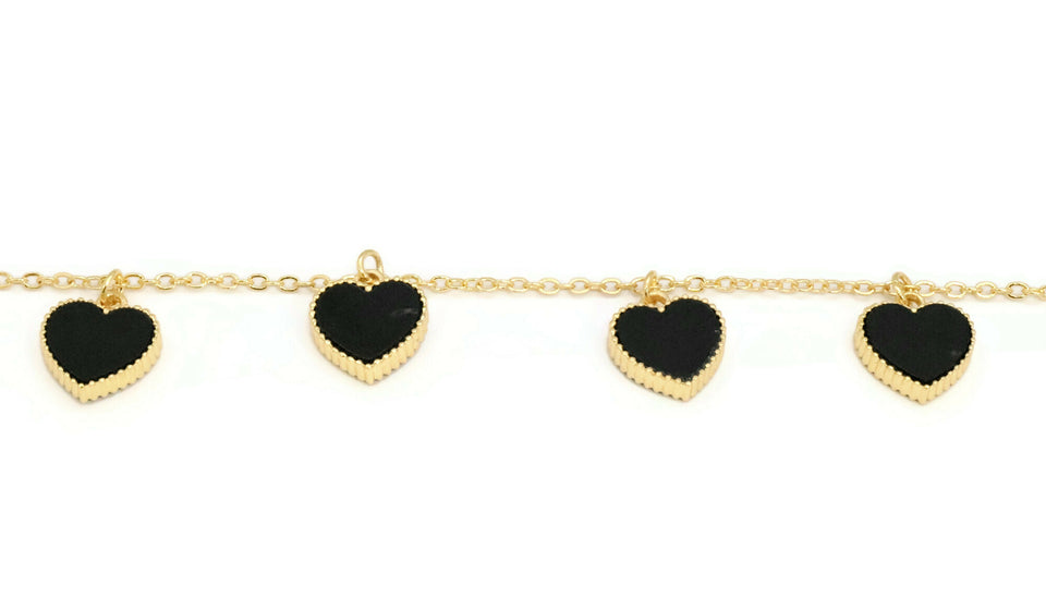 Women's heart design bracelet with lobster clasp