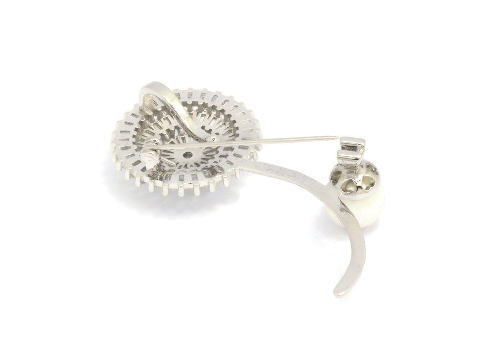 Rhodium plated   Women's Brooches Victorian design