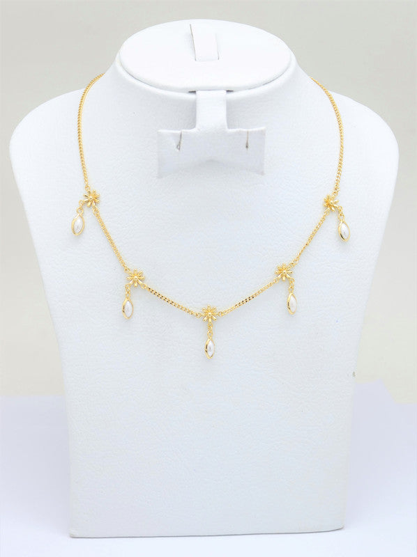 18K Gold Plated Adjustable choker necklace Gold Choker Charm Necklace Cubic White Stone Charms Necklace Gold Necklace Dainty Shapes Gold Necklace, Women's adjustable Circle Necklace