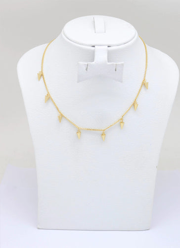 18K Gold Plated Adjustable choker necklace Gold Choker Charm Necklace Spike Charms Necklace Gold Necklace Dainty Shapes Gold Necklace, Women's adjustable Circle Necklace