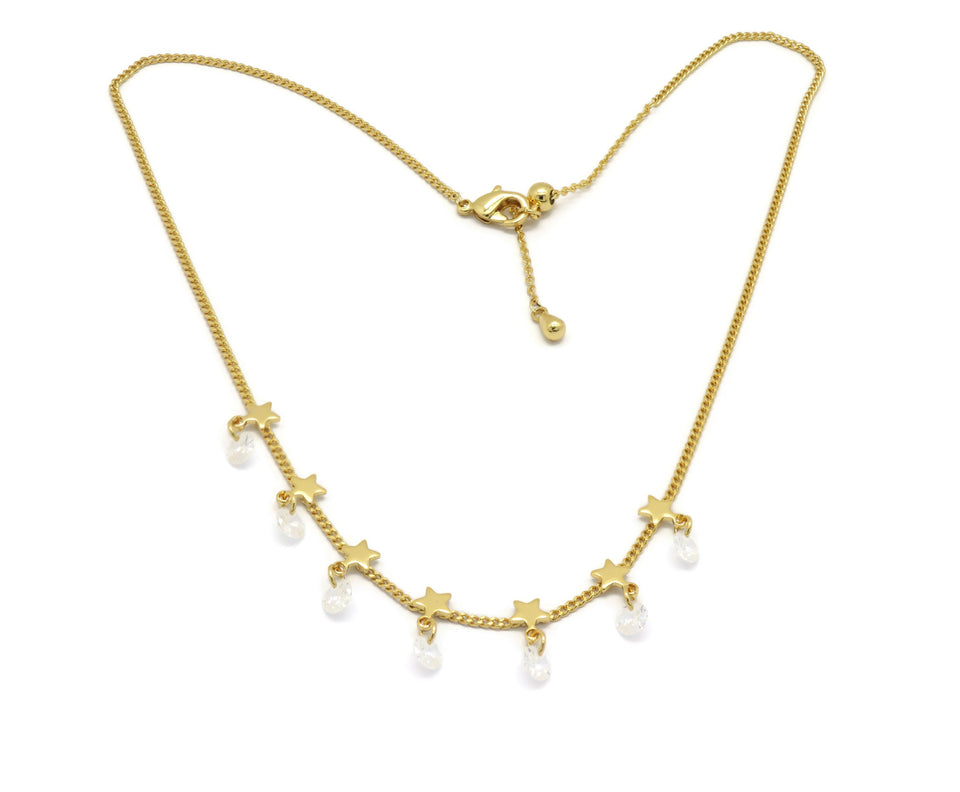 18K Adjustable Star Choker Necklace