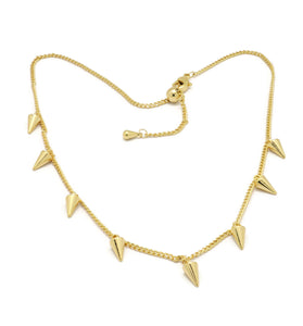 18K Adjustable choker Necklace