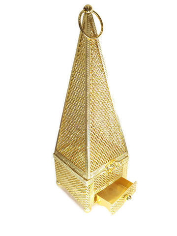 Pyramid Shape 24 kt gold plated Incense Burner - Jawaherat