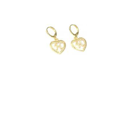 Gold Plated Alphabet letter H Stud Earring - Jawaherat