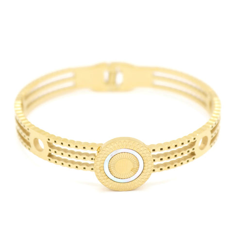 18kt gold plated women's fashion stainless steel bracelet