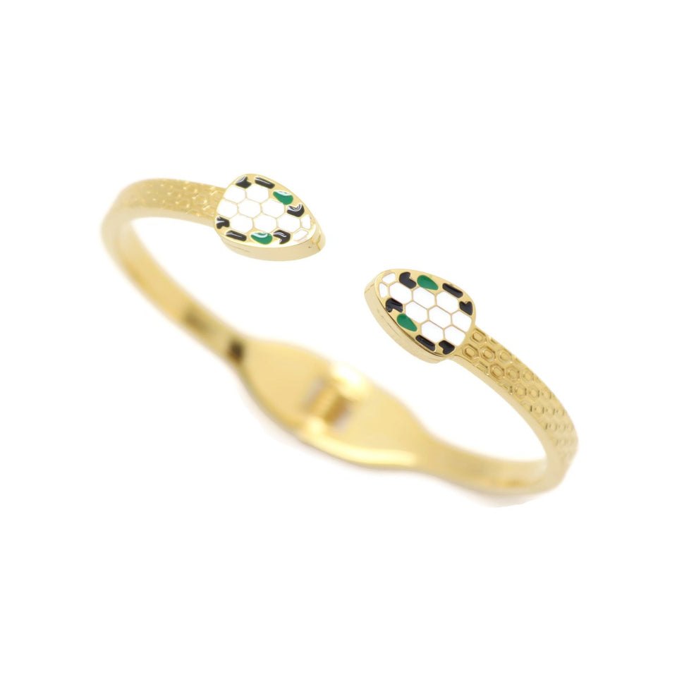 18Kt Gold Plated 1 Pieces Women's Bangle Delicate Fashion Jewelries - Jawaherat