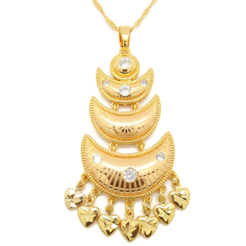 18 Kt gold women fashion pendent necklace - Jawaherat