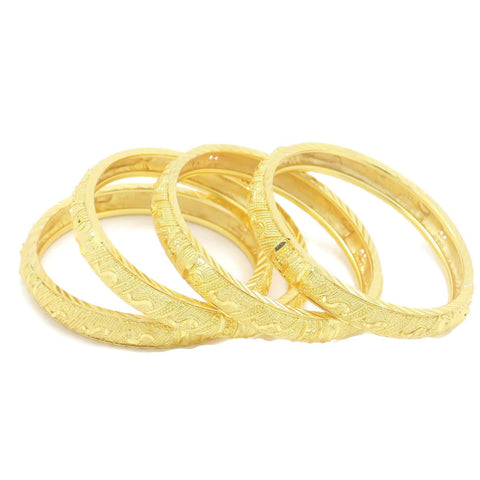 18 kt gold kid's 4 pcs set fashion bangle