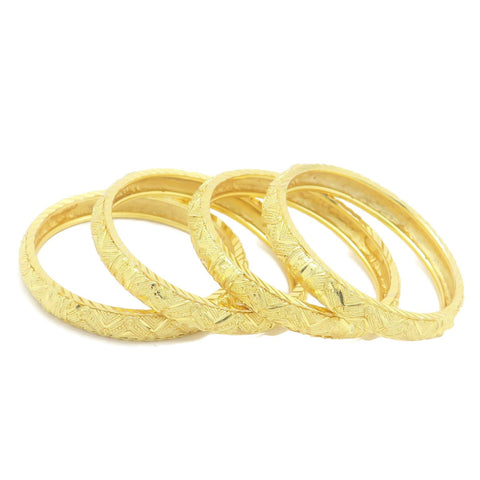 18 kt gold kid's 4 pcs set fashion bangle indigo design