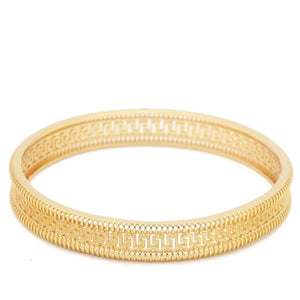 18 KT Rose Gold Plated Women's Fashion Bangle - Jawaherat
