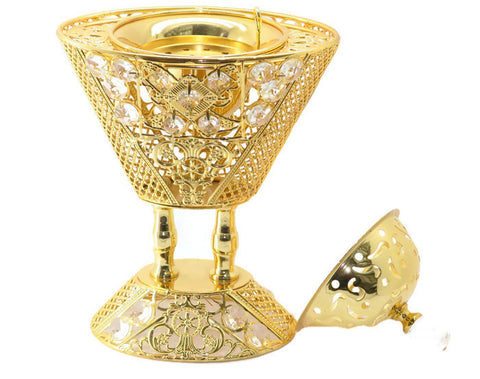 High Quality 24 kt Gold Plated Charcoal Incense Burner - Jawaherat