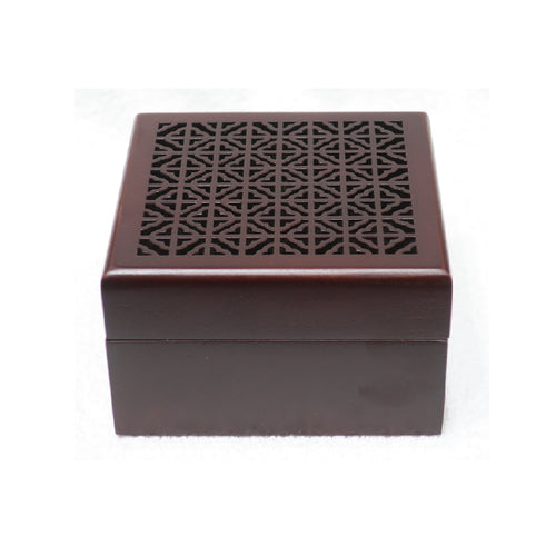 Wooden Square Incense Burner Bakhoor Burner - Jawaherat