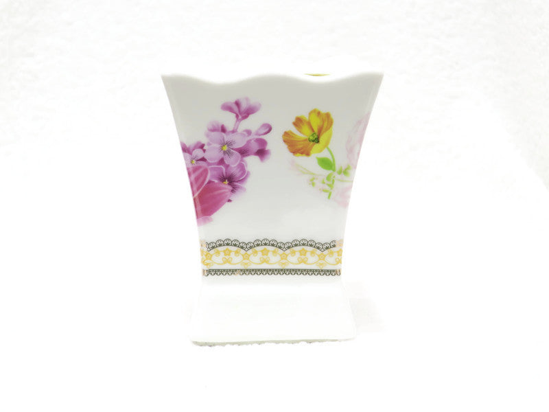 Ceramic Flower design Incense Burner - Jawaherat