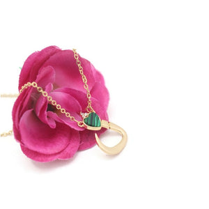 18Kt Gold Plated Women's Fashion Stylish Arabic Letter Necklace Pendent - Jawaherat