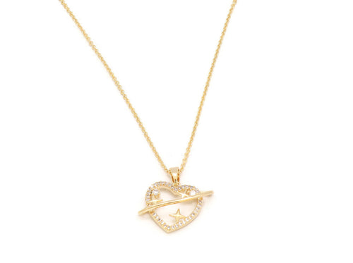 The Dazzling heart shaped locket with adjustable chain plated  in 18kt copper based metal, perfect gift for her