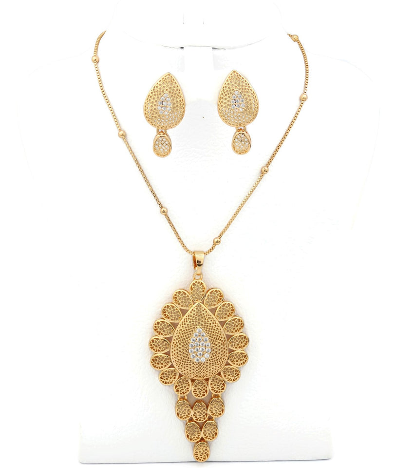 Luxury Unique Tear-drop design Jewelry Set