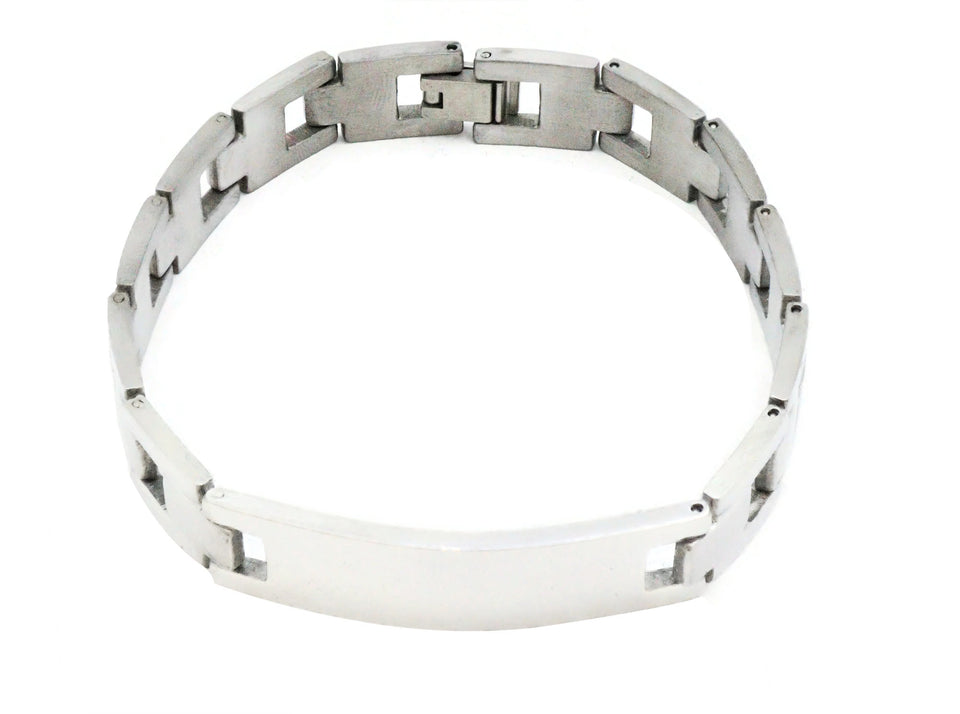Stainless Steel men's bracelet with fold over clasp.