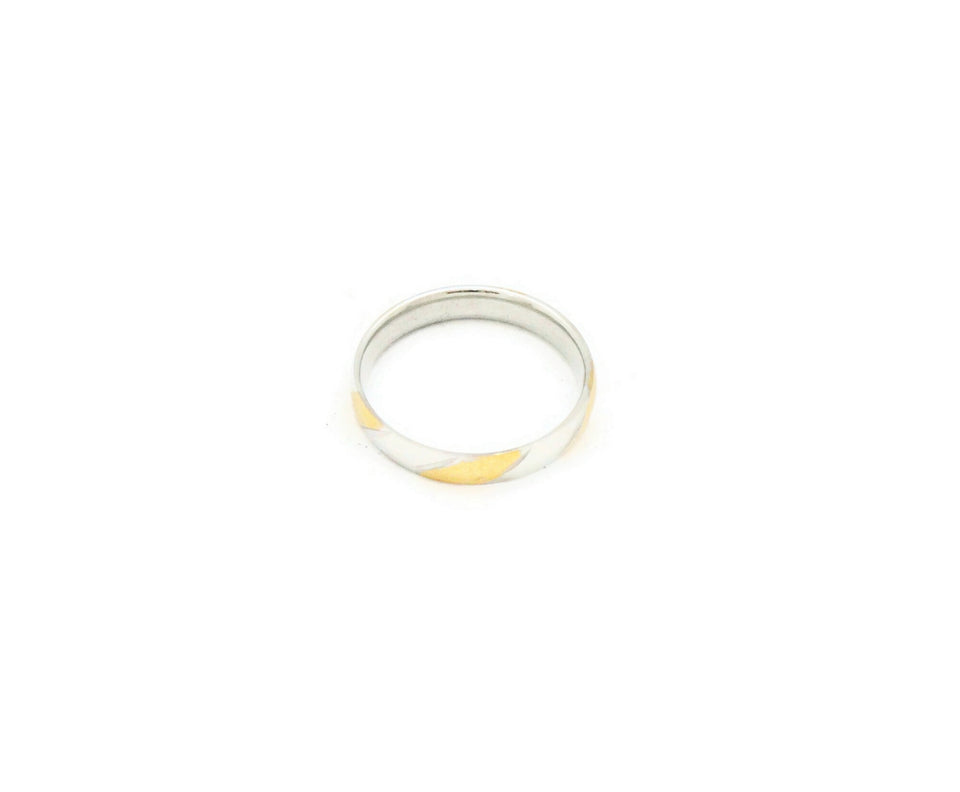 Two tone stainless steel with silver and gold colour Men's ring