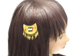 18 kt Gold Plated UAE National Day Metal Flag hair clip - Jawaherat