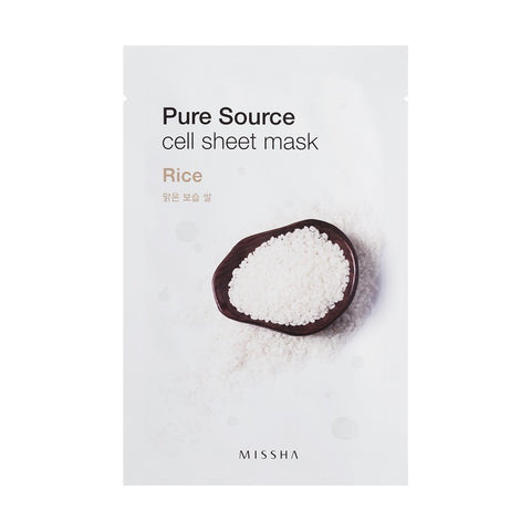 MISSHA PURE SOURCE CELL SHEET MASK (RICE) - Jawaherat