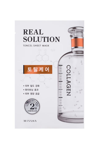 MISSHA REAL SOLUTION TENCEL SHEET MASK (TOTAL CARE) COLLAGEN - Jawaherat