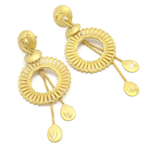 Bollywood Circular Design Chandilier Ear rings Tear-drop charms  Eye catchy  perfect gift for her