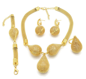 18k  Dubai Bridal Jewelry Sets Women
