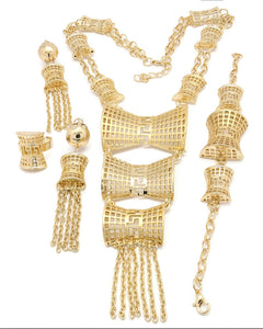 18k Traditional Bridal Jewelry Sets Women