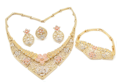 18k Latest Bridal Jewelry Sets Women
