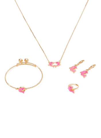 18Kt Gold Plated  5pcs Girls Fashion Set - Jawaherat