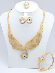 18k Fashion Bridal Jewelry Sets Women