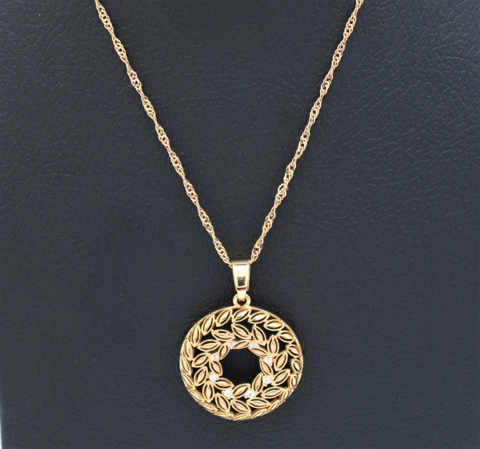 18kt Pendant Necklace - Geometric design series
