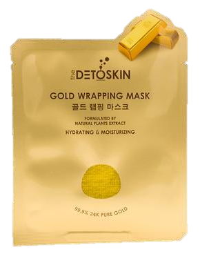 DetoSkin Gold Wrapping Mask ( 5 Pcs /Box)