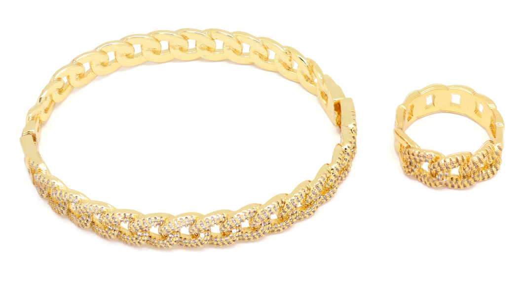 18kt  Tennis  Bracelet + ring set