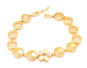 18kt Women's bracelet Geometric designs series