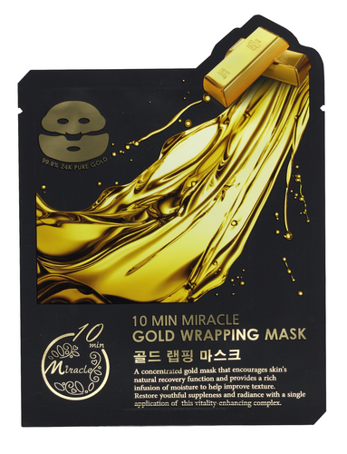 10 Min Miracle Gold Wrapping Mask ( 5 Pcs /Box) - Jawaherat