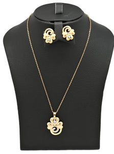 Laser printed Premium Series pendant necklace set for women