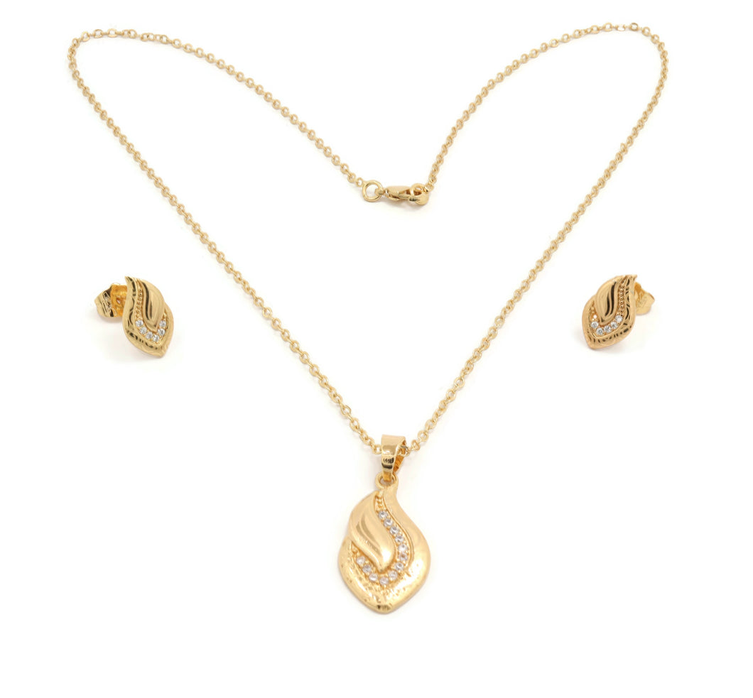 Laser printed Premium Series pendant necklace set