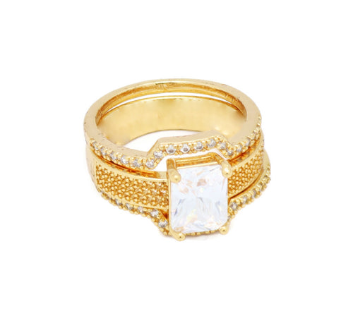 3 Piece Stackable Eternity 18kt Ring Set