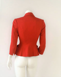 Fitted red blazer