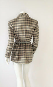 Oversize Hounds tooth Wool Jacket