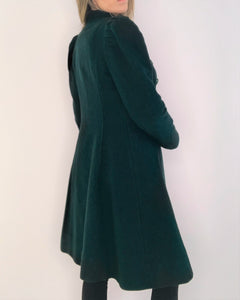 Hunter Green Structured Wool Coat