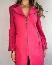 Load image into Gallery viewer, Hot Pink Wool Trench Coat