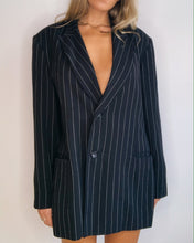 Load image into Gallery viewer, Oversize Pinstriped Blazer- Dress