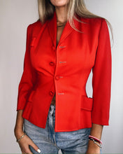 Load image into Gallery viewer, Fitted red blazer