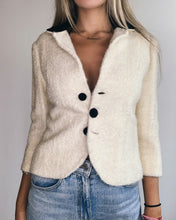 Load image into Gallery viewer, Cream Twirl Wool Blazer & Velvet