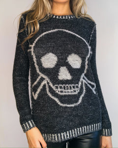 Black & Grey  Skull Sweater