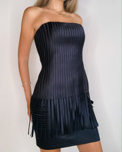Load image into Gallery viewer, BCBG Silk satin & Mesh Strapless Dress