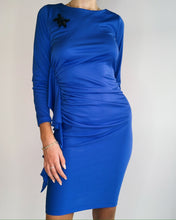 Load image into Gallery viewer, Disco  Royal Blue Ruffled Dress